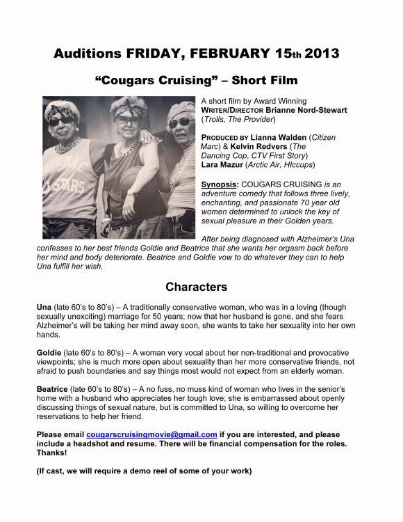 Cougars Cruising Casting Notice