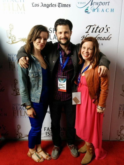 Brianne with filmmaker Doug Roland, and actress Michelle Luchese