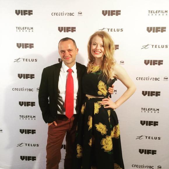 Actors Paula Burrows & Byron Noble at the Vancouver International Film Festival 2016 opening gala.