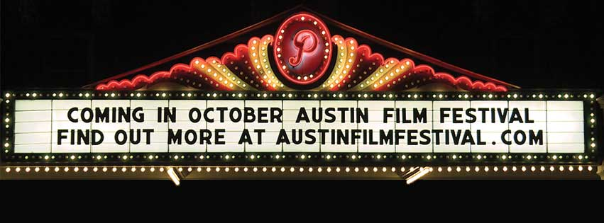 coming in october, austin film festival, movie theatre banner